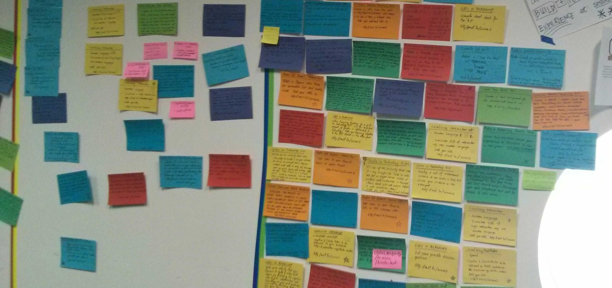 incoherence post-it wall
