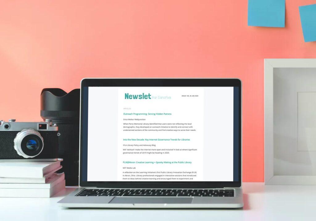 Image of Newslet newsletter screen